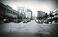 1943 Looking north up Vine St. from Sunset Blvd.