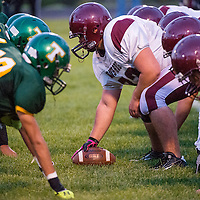 092013       Cable Hoover<br /> <br /> The Ramah Mustangs and Thoreau Hawks square off Friday at Thoreau High School.