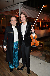 Left to right, CHARLES ELIASCH and THOMAS GOULD at the Liberatum Cultural Honour For Sir Terence Conran Dinner held at the Sanderson Hotel, Berners Street, London on 19th November 2013.
