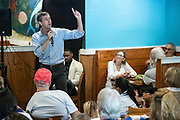 Democratic presidential hopeful Beto O'Rourke addresses supporters during a campaign stop at Gilligan's Restaurant April 13, 2019 in Summerville, South Carolina. During the event in the suburb of Charleston, Beto picked up the endorsement of South Carolina Rep. Marvin Pendarvis.