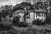 old mobile home, trailer, TX, USA