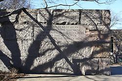 THEMENBILD - Franklin Delano Roosevelt Memorial. Reisebericht, aufgenommen am 14. Jannuar 2016 in Washington D.C. // Franklin Delano Roosevelt Memorial. Travelogue, Recorded January 14, 2016 in Washington DC. EXPA Pictures © 2016, PhotoCredit: EXPA/ Eibner-Pressefoto/ Hundt<br /> <br /> *****ATTENTION - OUT of GER*****