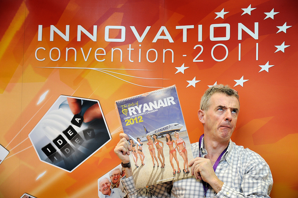 20111206 - Belgium , Brussels  - Innovation convention 2011 - Press Conference - Michael O'Leary - CEO, Ryanair © European Union / Scorpix