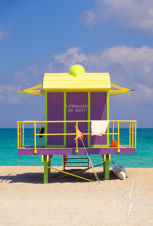 Purple Lifeguard House, Miami Beach, FL