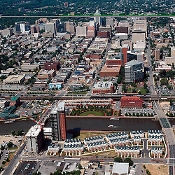 Aerial views of Wilmington Delaware, view North home of President Joe Biden and First Lady Jill Biden
