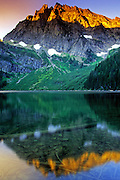 Granite Lake and A Peak in the Cabinet Mountains Wilderness Area. Kootenai National Forest, northwest Montana