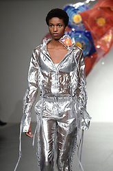 Models on the catwalk during the Fyodor Golan London Fashion Week SS18 show held at the BFC Show Space, London. Picture date: day month, 2017. Photo credit should read: Doug Peters/EMPICS Entertainment