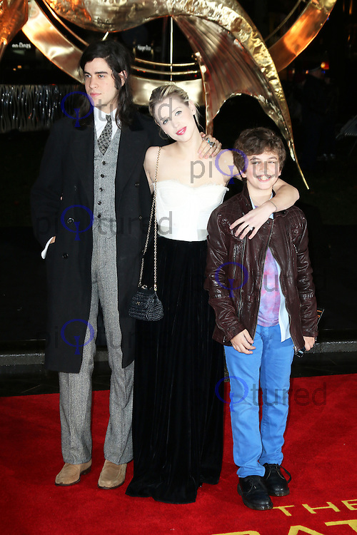 Thomas Cohen; Peaches Geldof, The Hunger Games: Catching Fire - World film premiere, Leicester Square, London UK, 11 November 2013, Photo by Richard Goldschmidt