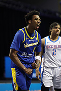 ORLANDO, FL - MARCH 6: Nate Hinton #11 of the Santa Cruz Warriors reacts to play during the game on March 6, 2021 at HP Field House in Orlando, Florida. NOTE TO USER: User expressly acknowledges and agrees that, by downloading and/or using this Photograph, user is consenting to the terms and conditions of the Getty Images License Agreement. Mandatory Copyright Notice: Copyright 2021 NBAE (Photo by Chris Marion/NBAE via Getty Images)