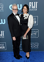 Amy Landecker and Bradley Whitford at the 25th Annual Critics' Choice Awards held at the Barker Hangar in Santa Monica, USA on January 12, 2020.