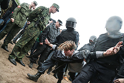 June 12, 2017 - Saint Petersburg, Russia - Police detain protesters during anti-corruption rally. Over 200 people were detained by police. (Credit Image: © Igor Russak/NurPhoto via ZUMA Press)