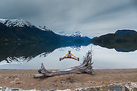 Cyclist jumping, Chile