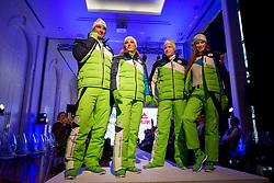 Iztok Hodnik, Mateja Simic, Benjamin Savsek and Karin Skufca at Official presentation of the Designer wear for Slovenian Athletes at PyeongChang Winter Olympic Games 2018, on December 19, 2017 in Grand Hotel Union, Ljubljana, Slovenia. Photo by Urban Urbanc / Sportida