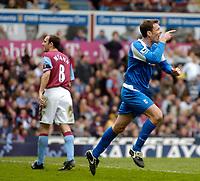 Photo: Glyn Thomas.<br />Aston Villa v Birmingham City. The Barclays Premiership. 16/04/2006.<br /> Birmingham's Chris Sutton (R) celebrates after equalising.