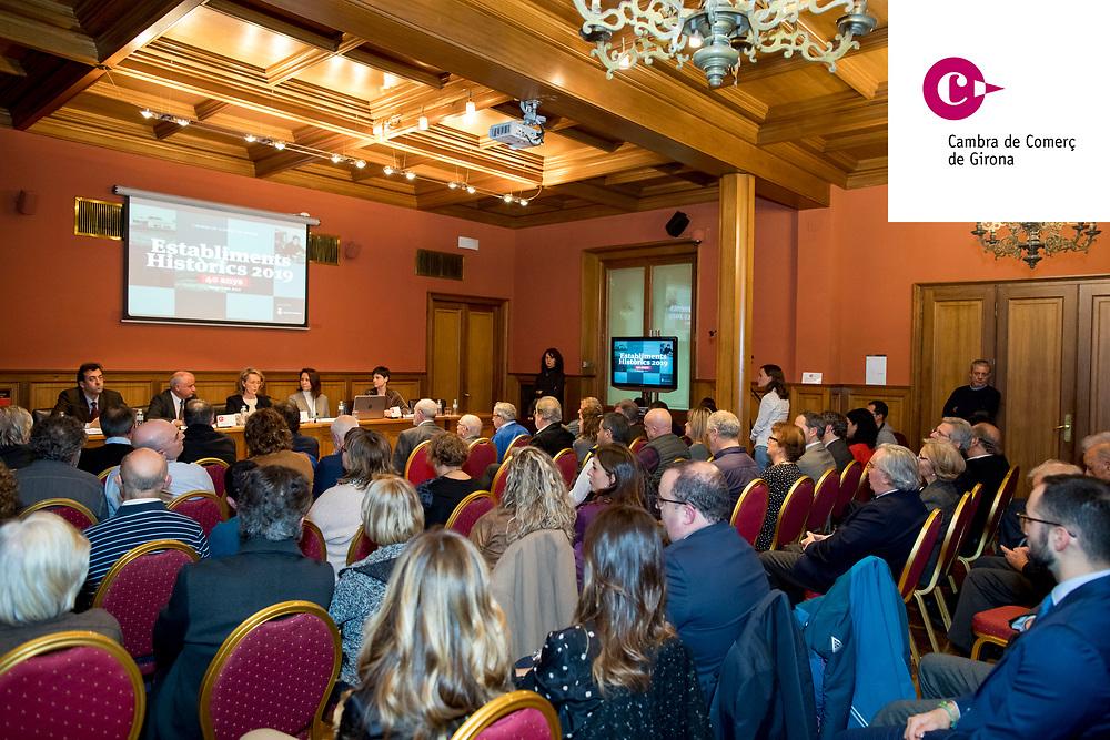 Cobertura fotogràfica per l'entrega anual dels guardons als estanbliments històrics atorgats per la cambra de comerç de Girona
