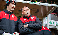 Crawley Town Manager Mark Yates during the Sky Bet League 2 match between Crawley Town and Bristol Rovers at the Checkatrade.com Stadium, Crawley, England on 21 November 2015. Photo by Bennett Dean.