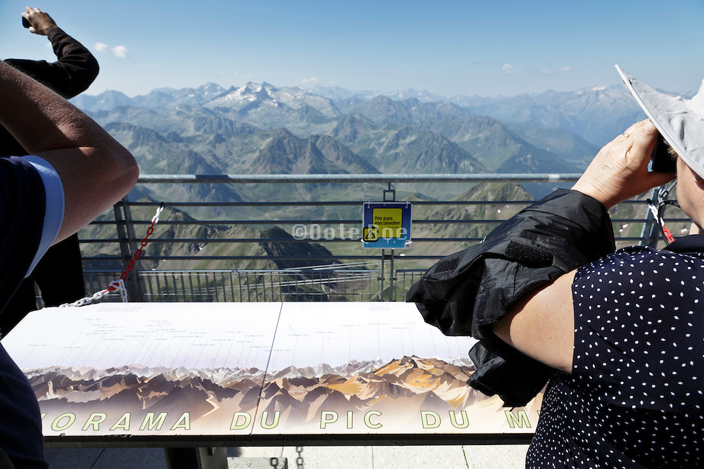panoramic view of the Pyrenees from the top of Pic Du Midi