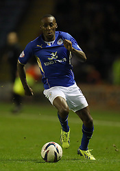 Match winner Leicester City's Lloyd Dyer - Photo mandatory by-line: Matt Bunn/JMP - Tel: Mobile: 07966 386802 29/10/2013 - SPORT - FOOTBALL - King Power Stadium - Leicester City - Leicester City v Fulham - Capital One Cup - Forth Round