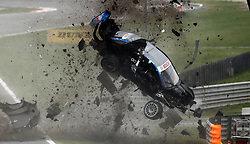 MOTORSPORT / DTM: 10. Lauf Adria, 31.10.2010 <br /> Alexandre Premat (FRA, TV Movie Audi), Unfall<br /> © pixathlon