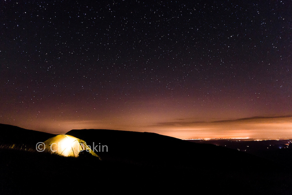 Wildcamping under the stars on Helvellyn