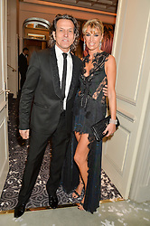 STEPHEN & ASSIA WEBSTER at the Gift of Life Old Russian New Year's Eve charity gala held at The Savoy Hotel, London on 13th January 2016.