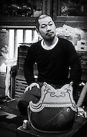 Takatoshi Suzuki in his workshop, Naka Urawa, March 11th 2016.