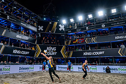 Emi van Driel, Mexime van Driel in action during the last day of the beach volleyball event King of the Court at Jaarbeursplein on September 12, 2020 in Utrecht.