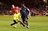 Photo: Daniel Hambury.<br />Charlton Athletic v Manchester City. Barclays Premiership.<br />04/12/2005.<br />City's Andrew Cole slips past Charlton's Dean Kiely to score the fifth goal.