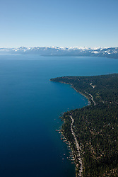 """""""Lake Tahoe Aerial 3"""" - Photograph of Lake Tahoe along the West shore. Shot from an amphibious seaplane with the door removed."""