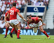 Wales' George North during the The Old Mutual Wealth Cup match England -V- Wales at Twickenham Stadium, London, Greater London, England on Sunday, May 29, 2016. (Steve Flynn/Image of Sport)