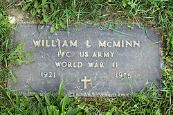 31 August 2017:   Veterans graves in Park Hill Cemetery in eastern McLean County.<br /> <br /> William L McMinn  Private First Class US Army  World War II  1921  1976