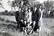 farmers family group portrait rural France 1948