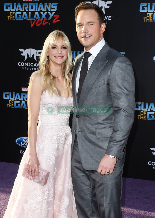 """(FILE) Chris Pratt and Anna Faris Divorce Settlement Details Revealed. The details of the divorce settlement between Chris Pratt and Anna Faris are coming to light. The two, who obtained a private judge to work out the deal, reportedly signed off on the deal on Wednesday (November 7, 2018) according to TMZ. According to the documents, they have agreed to live """"no more than five miles apart for about the next five years."""" This deal was made so that the two parents stay in place until their six-year-old son, Jack, completes the sixth grade. HOLLYWOOD, LOS ANGELES, CA, USA - APRIL 19: Actors Chris Pratt and Anna Faris arrive at the Los Angeles Premiere Of Disney and Marvel's 'Guardians Of The Galaxy Vol. 2' held at Dolby Theatre on April 19, 2017 in Hollywood, Los Angeles, California, United States. 19 Apr 2017 Pictured: Chris Pratt, Anna Faris. Photo credit: Xavier Collin/Image Press Agency/MEGA TheMegaAgency.com +1 888 505 6342"""