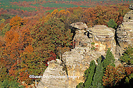 63895-07419 Camel Rock at Garden of the Gods in fall Shawnee National Forest   IL