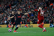 Marcos Llorent of Atletico Madrid scores a second goal in extra time  during the UEFA Champions League match at Anfield, Liverpool. Picture date: 11th March 2020. Picture credit should read: Darren Staples/Sportimage