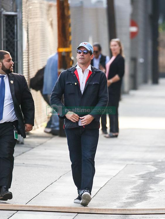 Jon Hamm is seen arriving at 'Jimmy Kimmel Live' in Los Angeles, California. NON-EXCLUSIVE June 14, 2018. 14 Jun 2018 Pictured: Jon Hamm. Photo credit: BG017/Bauergriffin.com/MEGA TheMegaAgency.com +1 888 505 6342
