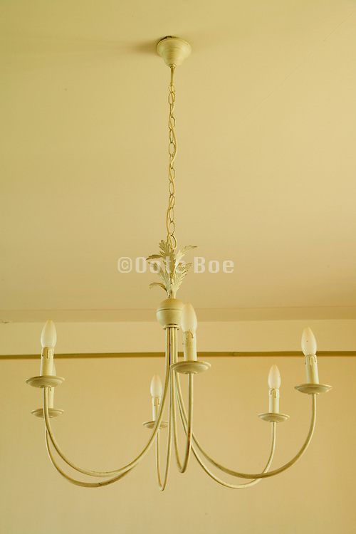 close up of a simple old style chandelier