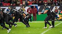 American Football - 2019 NFL Season (NFL International Series, London Games) - Houston Texans vs. Jacksonville Jaguars<br /> <br /> Gardner Minshew, Quarterback, (Jacksonville Jaguars) takes the snap at Wembley Stadium.<br /> <br /> COLORSPORT/DANIEL BEARHAM