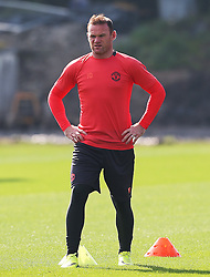 Wayne Rooney of Manchester United  - Mandatory by-line: Matt McNulty/JMP - 14/09/2016 - FOOTBALL - Manchester United - Training session ahead of Europa League Group A match against Feyenoord