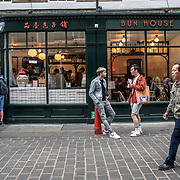 Bun House in London Chinatown Sweet Tooth Cafe and Restaurant at Newport Court and Garret Street on 15 June 2019, UK.
