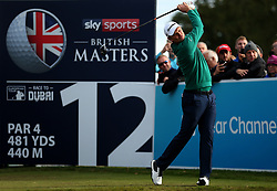Justin Rose on the 12th during day two of the British Masters at Walton Heath Golf Club, Surrey.