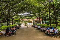 Outdoor dining at Arba Minch Tourist Hotel, Arba Minch, Ethiopia.