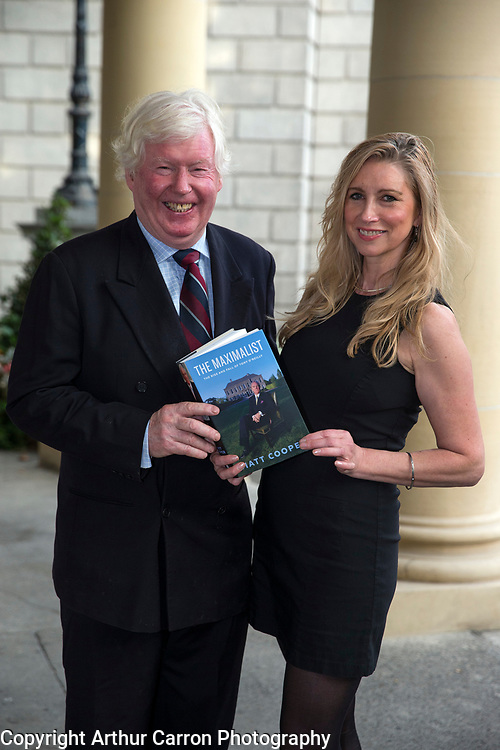 24/9/15 Tom Blake and Maura Walsh at the launch of Matt Cooper's new book The Maximalist at the National Library in Dublin. Picture:Arthur Carron