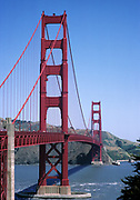Golden Gate Bridge, San Francisco, California at daytime with blue skies