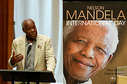 (170718) -- UNITED NATIONS, July 18, 2017 (Xinhua) -- Danny Glover, American actor and United Nations Children's Fund (UNICEF) Goodwill Ambassador, speaks during a ceremony marking Nelson Mandela International Day at the UN headquarters in New York, on July 18, 2017. Marking Nelson Mandela International Day, UN Secretary-General Antonio Guterres on Tuesday called for actions across the world in promoting peace, sustainable development and lives of dignity for all. (Xinhua/Li Muzi) (Photo by Xinhua/Sipa USA)