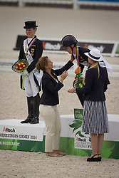 HRH Princess Haya, (JOR), Langenhanenberg, Helen, (GER), Charloote, Dujardin, (GBR), Adelinde, Cornelissen, (NED) - Dressage Kur to Music- Alltech FEI World Equestrian Games™ 2014 - Normandy, France.<br /> © Hippo Foto Team - Dirk Caremans<br /> 25/06/14