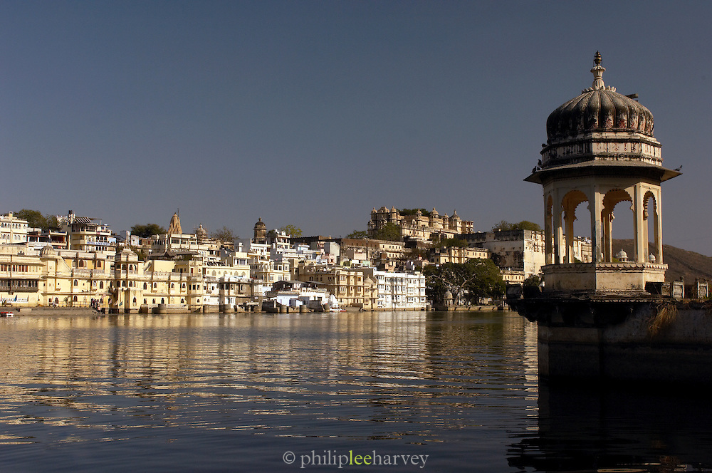 View across Lake Pichola in Udaipur, Rajasthan, India