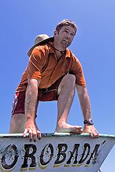 J. Nichols Diving Off Boat