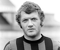 Jackie Fullerton, footballer, Crusaders FC, Belfast, N Ireland, August 1972, later sports broadcaster, first with UTV, later with BBC N Ireland. AKA John Alexander Fullerton, 197208000505<br /> <br /> Copyright Image from<br /> Victor Patterson<br /> 54 Dorchester Park<br /> Belfast, N Ireland, UK, <br /> BT9 6RJ<br /> <br /> t1: +44 28 90661296<br /> t2: +44 28 90022446<br /> m: +44 7802 353836<br /> e1: victorpatterson@me.com<br /> e2: victorpatterson@gmail.com<br /> <br /> www.victorpatterson.com