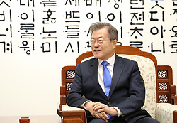 April 27, 2018 - Paju, South Korea - South Korean President MOON JAE-IN and North Korean leader KIM JONG-UN during their inter-Korean summit at the Panmunjom in the demilitarized zone (DMZ) separating the two Koreas in Paju, north of Seoul, South Korea. (Credit Image: ? Inter-Korean Press Corps via ZUMA Wire)
